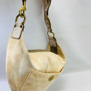 COACH SIGNATURE HOBO Beige CANVAS Small L05J-123